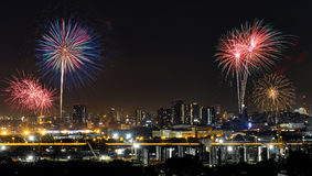 Colorful fireworks show Royalty Free Stock Photography