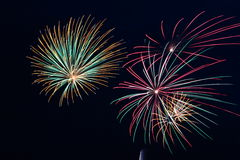 Colorful Fireworks Showering Down Royalty Free Stock Images
