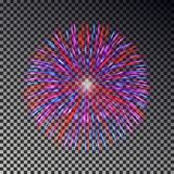 Colorful fireworks on sky. Firecracker vector isolated. Colorful fireworks on sky. Firecracker vector isolated Royalty Free Stock Photos