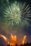 Colorful fireworks in the sky Royalty Free Stock Images