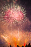 Colorful fireworks in the sky Royalty Free Stock Photography