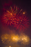 Colorful fireworks in the sky Royalty Free Stock Photo