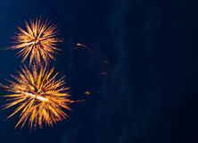 A colorful fireworks. Stock Image