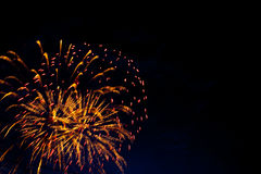 A colorful fireworks. Royalty Free Stock Photo