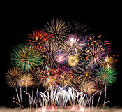 Colorful fireworks of various colors Royalty Free Stock Photo