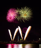 Colorful fireworks of various colors Stock Image