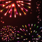 Colorful fireworks of various colors. Colorful vector fireworks of various colors Stock Images