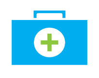Colorful First aid kit icon vector isolated white background. Medical icons Royalty Free Stock Photography