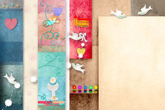Colorful First Holy Comunion invitation card Royalty Free Stock Photography