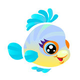 Colorful fish. Colorful funny fish on a white background royalty free illustration