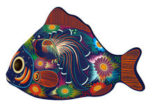 Colorful fish royalty free illustration