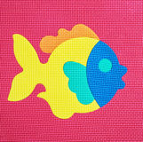 Colorful fish - baby rubber puzzle Stock Photos