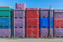 Colorful Fish Containers Royalty Free Stock Photos