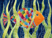 Colorful fish. Decorative colorful fish in the water Royalty Free Stock Image