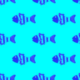Colorful fish pattern Royalty Free Stock Photography