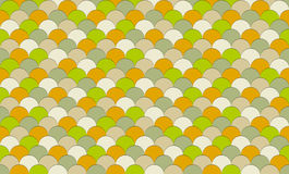 Colorful fish scale pattern. Seamless fish scale texture in colors of green, orange, tan and brown Stock Photography