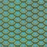 Colorful fish scales plaster tile seamless texture Royalty Free Stock Photos