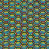 Colorful fish scales plaster tile seamless texture Stock Photography