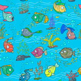 Fish seamles. Colorful fish seamless pattern background Royalty Free Stock Photography