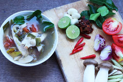 Colorful fish soup to eat food Thailand Royalty Free Stock Photos