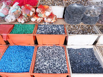Colorful fish tank gravel Royalty Free Stock Images