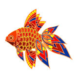 Colorful fish. Vector image of a goldfish in asian style Royalty Free Stock Image