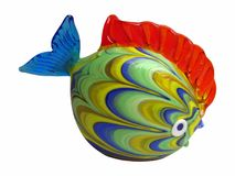 Colorful fish from venetian glass. Isolated on white Stock Image