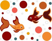 Colorful fish on a white background royalty free illustration