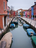 Colorful fishermen houses in Burano Royalty Free Stock Photos