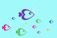 Colorful fishes Royalty Free Stock Images