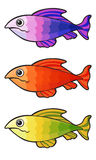 Colorful fishes set Stock Images