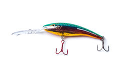 Colorful fishing bait. Isolated on the white Stock Images