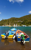 Colorful Fishing Boats Royalty Free Stock Images