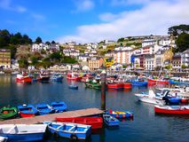 Colorful fishing boats in Luarca, Asturias, Spain Royalty Free Stock Photography