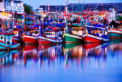 Colorful fishing boats Royalty Free Stock Photo