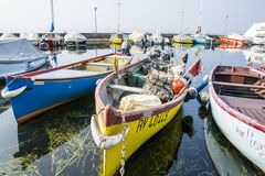 Colorful fishing boats Stock Photos