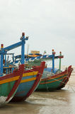 Colorful fishing boats on the sea Royalty Free Stock Photo