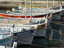 Colorful fishing boats Royalty Free Stock Image