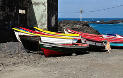 Colorful Fishing boats Stock Photography