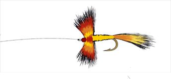 Colorful Fishing Fly royalty free illustration