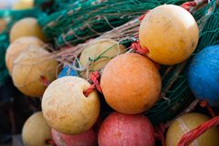 Colorful fishing net Stock Photos