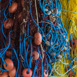 Colorful fishing net.  Stock Photos