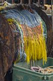 Colorful fishing net Royalty Free Stock Images