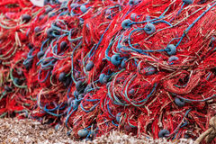 Colorful Fishing Nets Stock Photography
