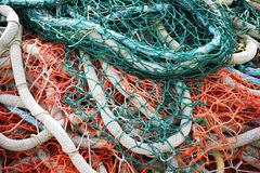 Colorful Fishing Nets Alaska Royalty Free Stock Photo
