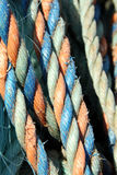 Colorful fishing ropes Royalty Free Stock Photo
