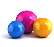 Colorful fitness balls isolated Stock Photo