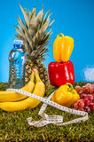 Colorful fitness composition, fitness stuff Stock Photography