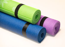 Colorful Fitness Mats Royalty Free Stock Images