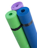 Colorful Fitness Mats Stock Images